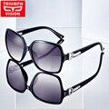 Triumph vision gafas de sol para mujer de la mariposa de gran tamaño gafas de sol polarizadas de conducción femenina uv400 anti glare luneta marca new