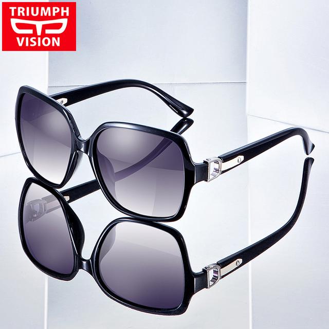 Triumph vision oversized óculos de sol para as mulheres borboleta condução uv400 polarizada óculos de sol feminino anti glare luneta marca new