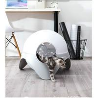 AHUAPET Pet Cat Bed Litter House Capsule Litter Box Closed Cat WC Clean Cat Potty Deodorant Fashion Pet Products Mascotas E
