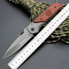 5CR13MOV Blade Survival Knife BROWNING Folding Knife Wood Handle Pocket Hunting Tactical Knives Camping Outdoor EDC Tools