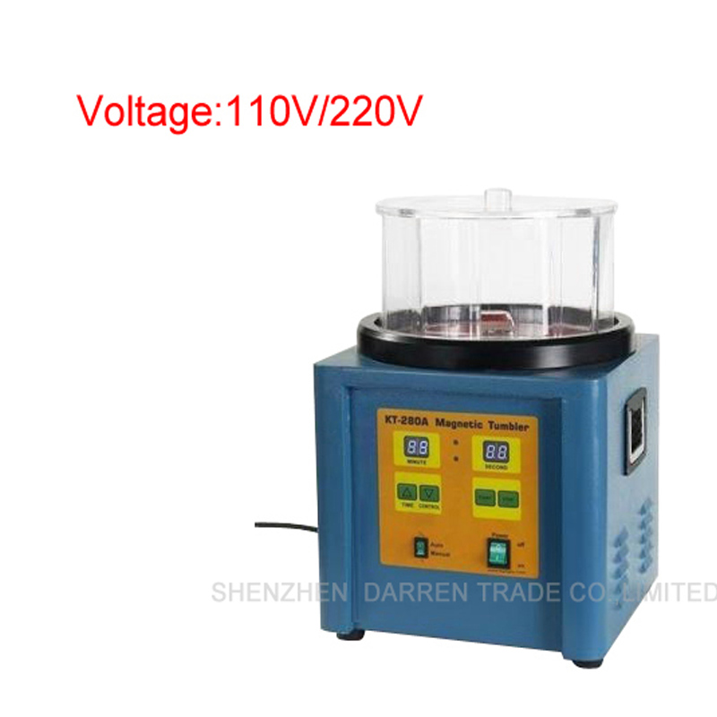 110 V 220 V KT-280 1100g Ferromagnetico Potente Tumbler Magnetico Potente  Elettrico Magnetico Macchina di Lucidatura d3999d32a559