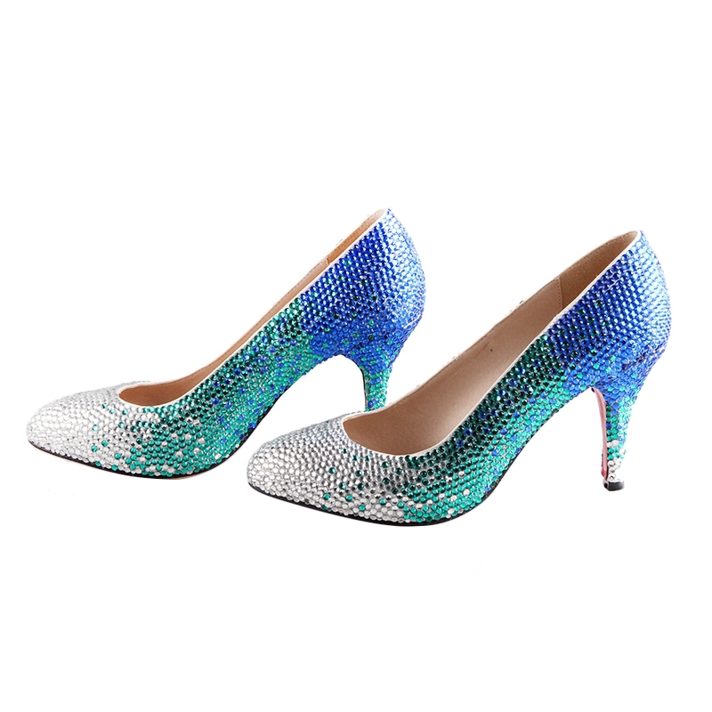 Silver Green Purple Navy Blue Robe mix Talons En Truquoise Pompes Grande mix Cristal gold Dhl 6cm Blue Chaussures Silver Chs338 Femmes Made mix Hauts Mulitcolor De Mariage custom Color Turquoise Custom Grey Taille 5cm wUfBqfgx