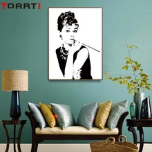 Famous Woman Canvas Painting For Living Room Wall Art Home Decor No Frame Fashion Nordic Poster Pop Art Print Wall Pictures цена