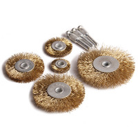 8Pcs Set Wire Wheel Brushes Brass Petiole Grinding Polishing Dreme Accessories For Rotary Tool Electric Abrasive