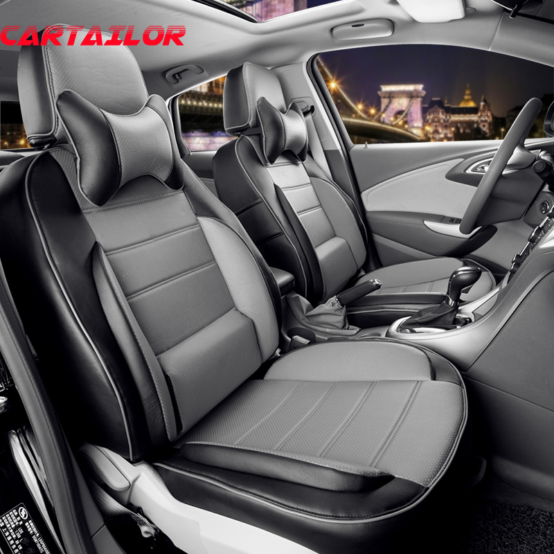 CARTAILOR PU Leather seat covers fit for BENZ SLK car seat cover custom front 2pcs cover seats protector leatherette car styling