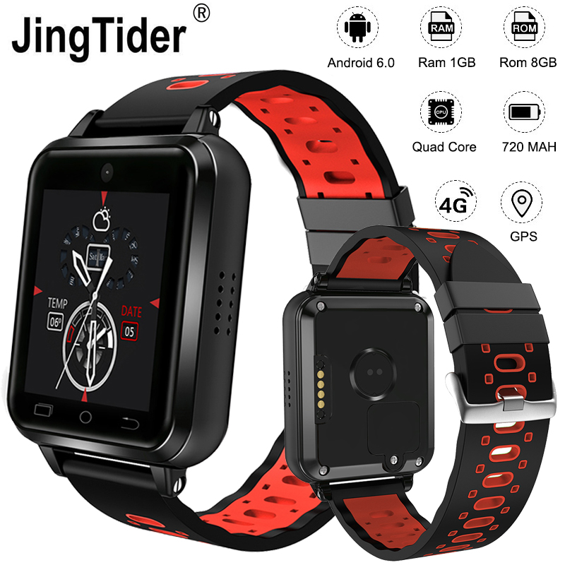Q1 Pro 4G montre intelligente MTK6737 Quad Core 1 GB/8 GB Android 6 GPS montre-bracelet 1.54