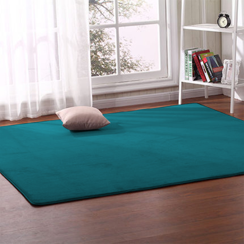 Thick Coral Fleece Carpet Living Room Coffee Table Sofa Blanket Children's Room Mat Bedroom Bedside Bay Window Rectangular Rug