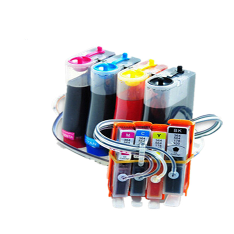 For HP 178 CISS With Ink With Chip Ink Cartridge Continuous Ink Supply System For HP Photosmart 5520/C6380/C6300 Free Shipping free shipping high quality ciss with sublimation ink for epson photo 1400 ciss ink system with new combo arc chip