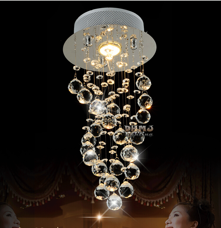 Free Shipping LED Modern K9 Crystal Chandeliers Crystal Pendant Lamp 100% lustres de cristal chandeliers criostail LED Lights 50pcs lot 6r1k4c6