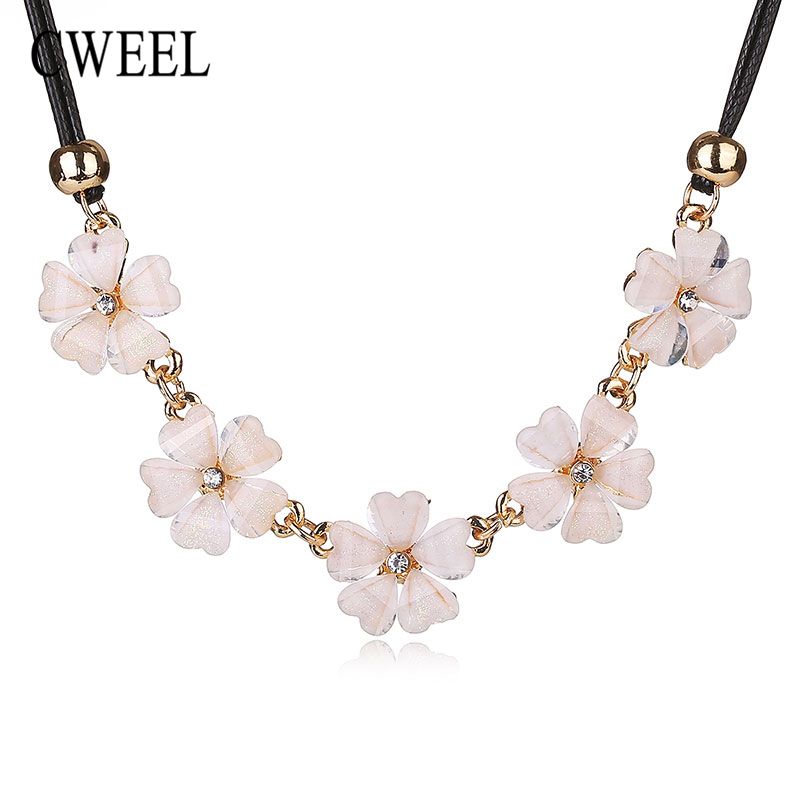 CWEEL Women Bridal Wedding Necklaces Imitated Crystal Pendans