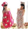 2 В 1 Hello Kitty Мягкие Волокна Женщины Леди девушки Юбка Дизайн Полотенце Халат + Оголовье