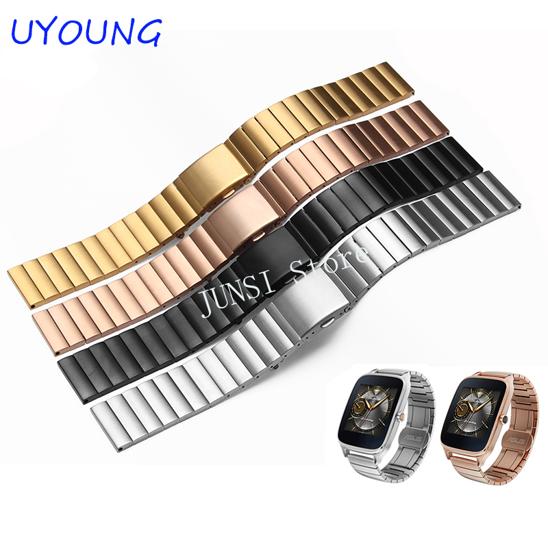 For ASUS Zenwatch 2 Quality stainless steel Watchband For LG G Watch W100 W110 Urbane W150 Smart Watch Men's Luxury accessories