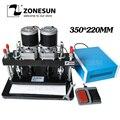 ZONESUN 35x22 см электрическая машина для высечки кожи фотобумага ПВХ/Эва лист пресс-формы резак для высечки для кликера