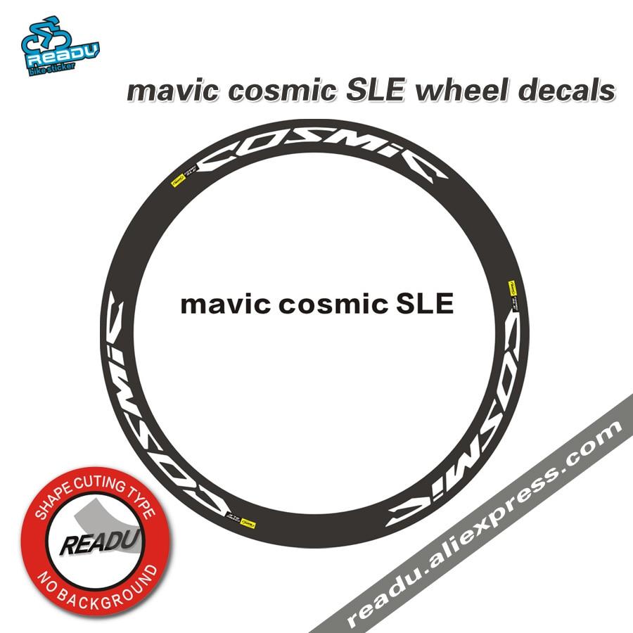 Mavic Cosmic SLE Road Bike Wheelset Decals 700C Bicycle Wheel Rims Stickers  Rim Depth 38mm 40mm 50mm For Two Wheels
