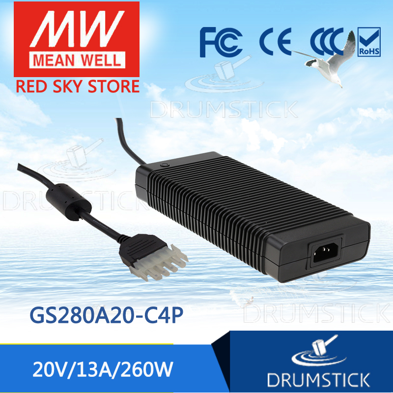 Hot sale MEAN WELL original GS280A20-C4P 20V 13A meanwell GS280A 20V 260W AC-DC Industrial Adaptor
