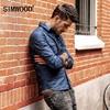 SIMWOOD 2017 Camouflage Shirts Men Denim Slim Fit Long Sleeve Military Shirt Male 100 Cotton Social