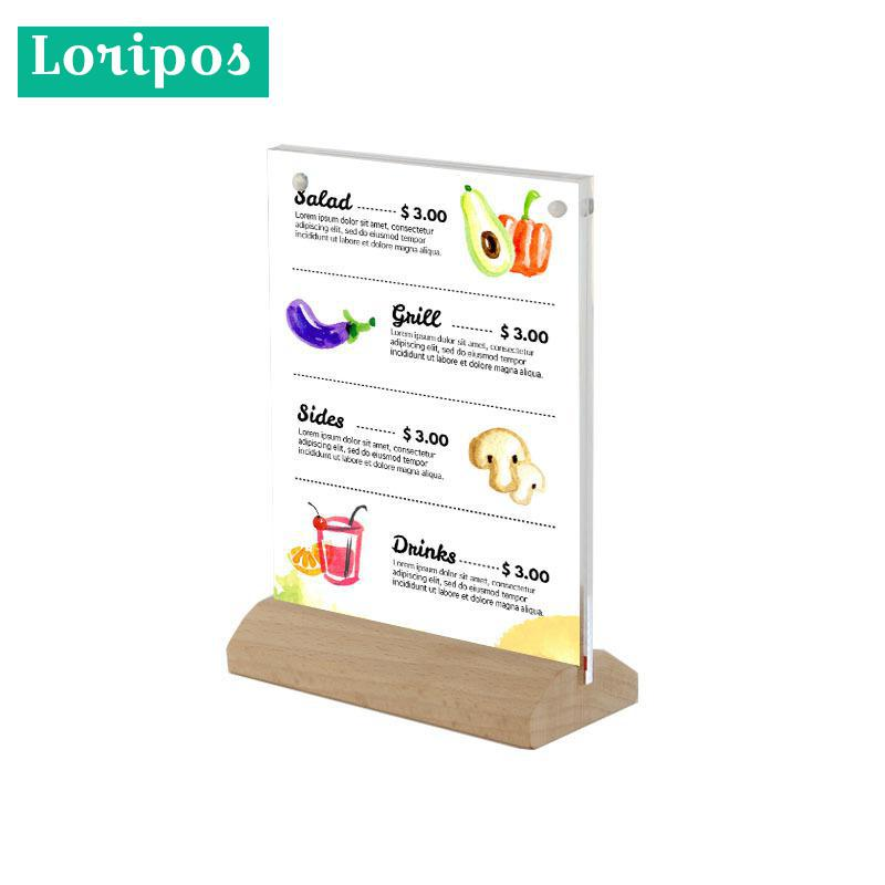 Desk Accessories & Organizer Office & School Supplies Buy Cheap A5 Menu Stand Counter Cashier Desk Sign Holder Menu Stand Plastic Frame Photo Frame Advertising Food Poster Frame Price Display