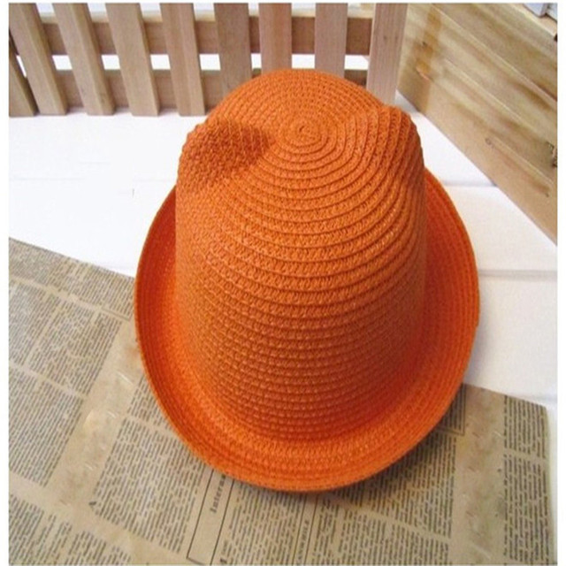 MUQGEW 2020 الصيف الطفل القط آذان قبعة قبعة تنفس القش للأطفال الاطفال عالية الجودة طفل الفتيات القبعات touca infantil 49-51 سنتيمتر
