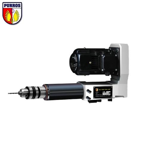 Samojezdne wiertarki elektro-pneumatyczne, skok wrzeciona 80 mm, 0,55 kW, głowice wiercące z własnym podajnikiem seria PR3P, elektronarzędzia