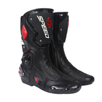 Leather Ultra Fiber Wearable Motorcycle Boots Anticollision Motocross Shoes Stiefel Bottes Laarzen Bot Botas Stivali with Gift