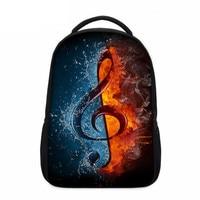 VEEVANV 3D Designer Musical Notation Printing Backpacks School Shoulder Bags Laptop Backpacks for Girls Children Daily Book Bags