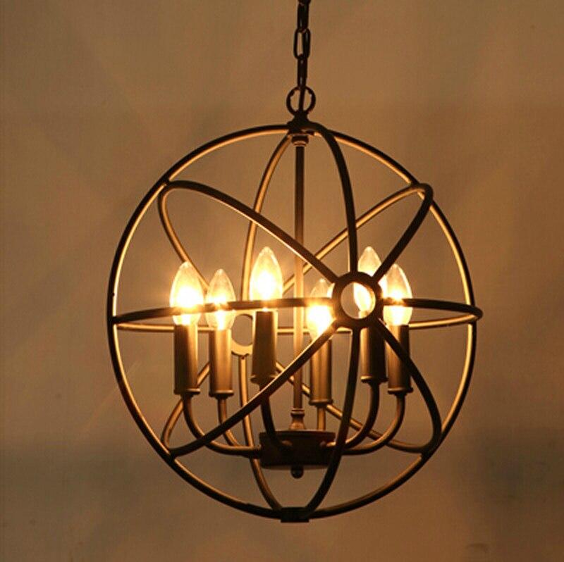 Лофт американский стиль ретро скандинавский винтажный подвесной светильник Железный промышленный подвесной светильник для гостиной столовой светильник