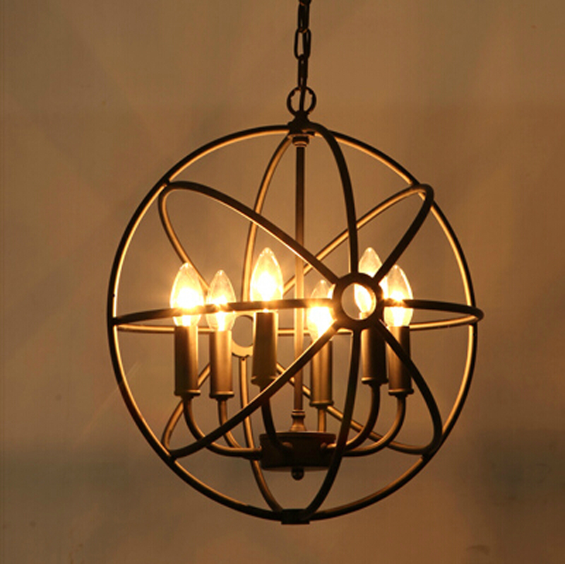 loft American style retro nordic vintage Pendant Light iron industrial hanging lamp living room dining room light fixture lamp ark light vintage rural style pendant light american wrought iron led pendant light cottage dining room living room study room