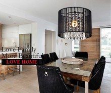 NEW Black crystal chandeliers minimalist modern Restaurant chandelier Dia 25cm free shipping