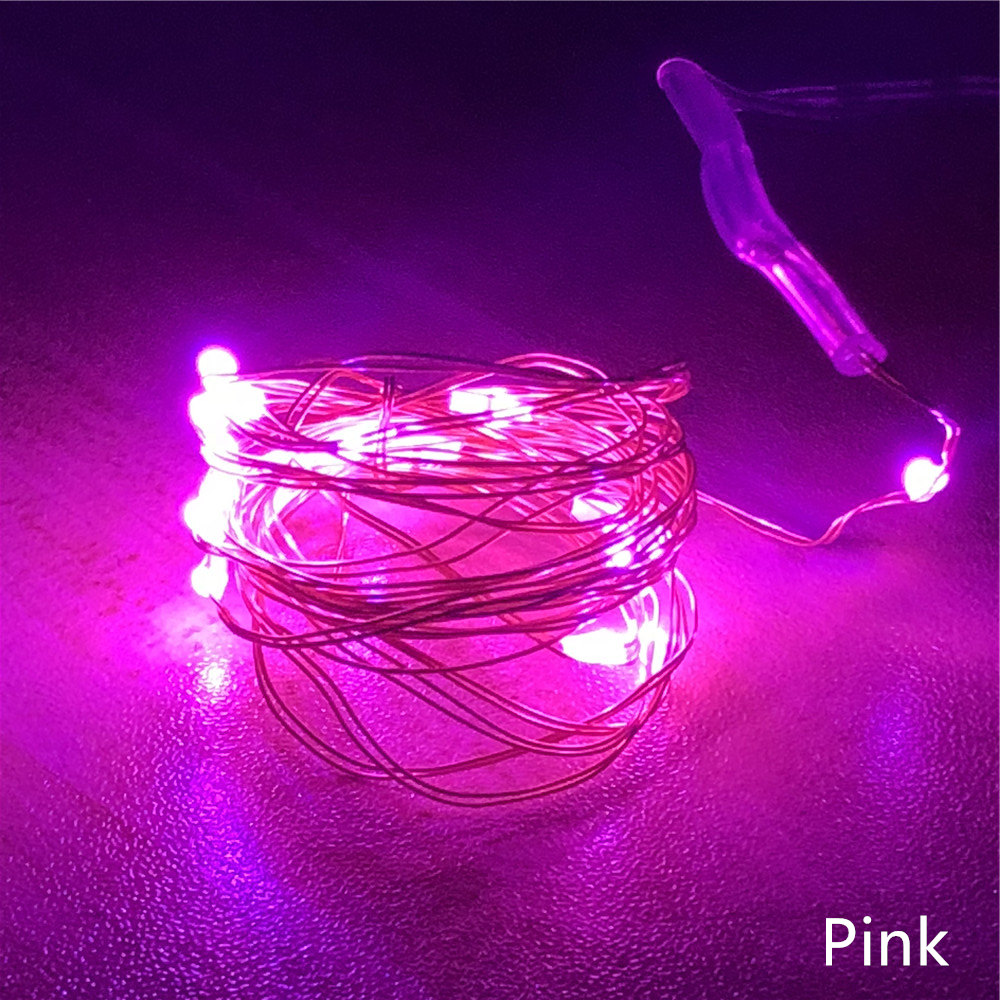 New 2M 20LEDs Copper Silver Wire LED String lights Waterproof Holiday lighting For Fairy Christmas Tree Wedding Party Decoration in LED String from Lights Lighting