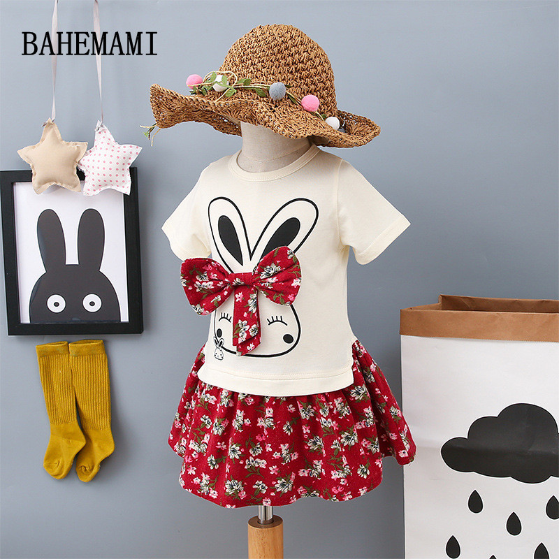 BAHEMAMI 2018 Fashion Spring Boutique Outfits Baby clothes Girls Sets Cute cat Print Long Sleeve Tops Bow Tutu Skirts suits