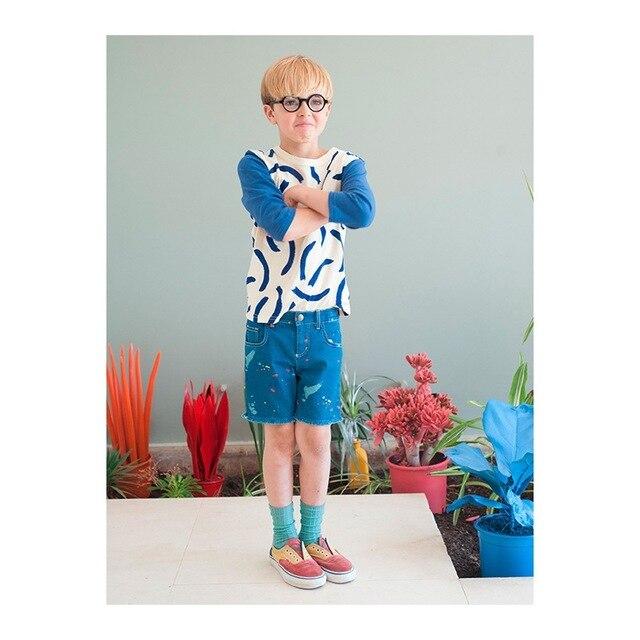 2016 БОБО ВЫБИРАЕТ новый хлопок футболки тис/vetement enfant 2-7 лет мальчик девушки reine des neiges гарсон KIKIKIDS детская одежда