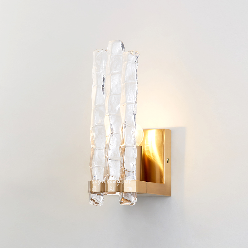 Modern American Transparent Glass Wall lamps wall gloden lampshade wall sconce loft bedroom living room outside light wall light