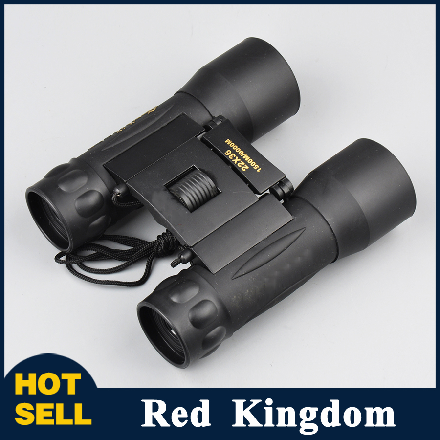 22x36 Binoculars Telescopes 2 Color Wide Vision with Long Range 1500M/8000M Folding Roof Prism Military Professional Hunting