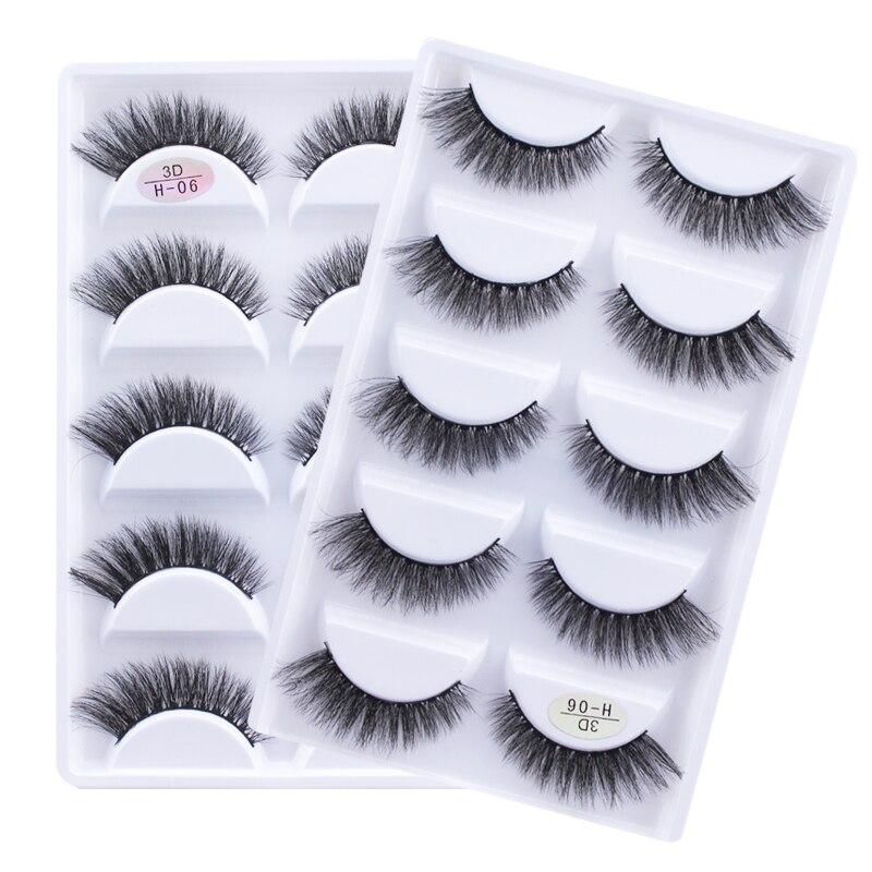 49cd6d2e984 NEW 5 pairs 100% Real Fake Mink Eyelashes 3D Natural False Eyelashes 3d  Mink Lashes
