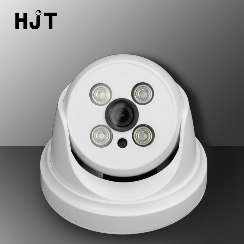 HJT Wired IP Camera Dome 720P 1080P IR Night Vision HD 1.0MP 2.0MP CCTV Security Indoor Network Cameras Onvif H.264 Plastic 4pcs lot 960p indoor night version ir dome camera 4 in1 camera 3 6mm lens p2p onvif abs plastic housing