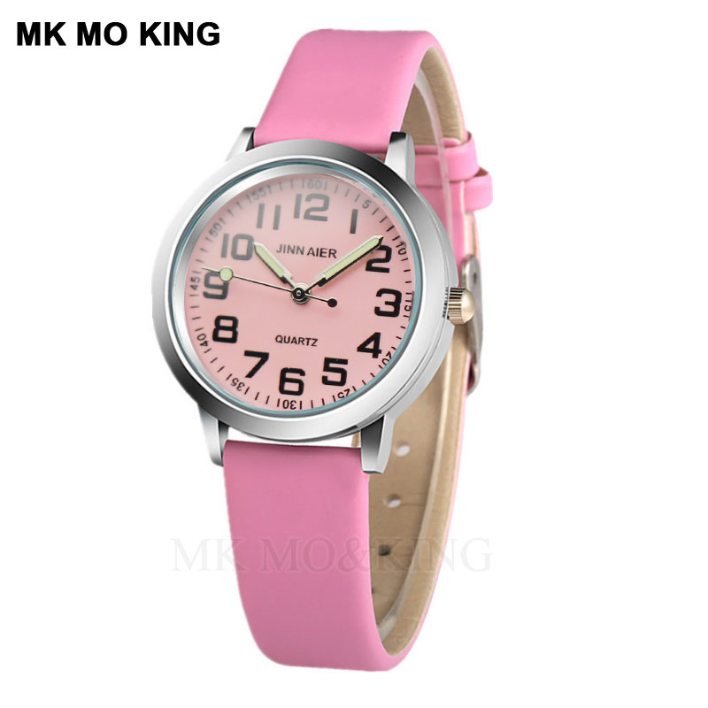 Girls Children's Watches Fashion Quartz Boy Student Games Watch Casual Leather Luminous Pointer Kids Gift  Wristwatch Relogio