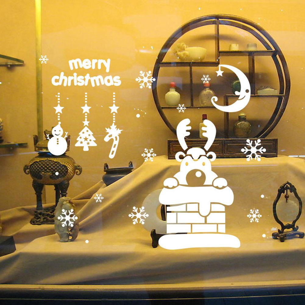 Christmas Snowflake Small Pendant Glass Window Wall Stickers ...