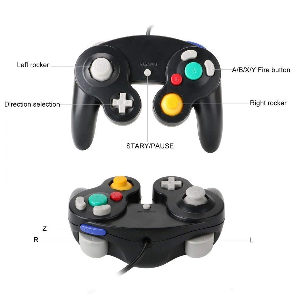 Image 2 - For Gamecube For NGC Controller GC Port PC USB Wired Gamepad Joypad Joystick For Nintendo For MAC Computer-in Gamepads from Consumer Electronics