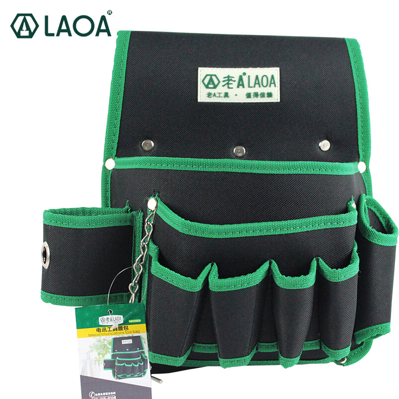 LAOA Electrical Package Tool Hanging Bag Multi - Functional Pockets Oxford Cloth Tool Bag Wear - Resistant Bag For Electrician