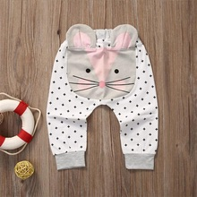 Купить с кэшбэком baby pants bottoms infant cartoon cute toddler legging clothing newborn harem pants animal trousers for 0-2 years old girl boy