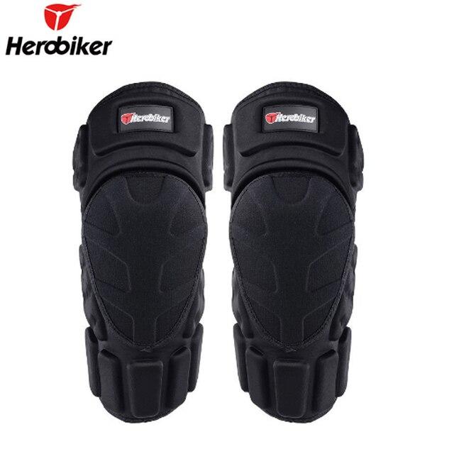d900a300737 HEROBIKER motocicleta rodilleras Joelheira Motocross rodilla Protector MTB  esquí rodillera protectora Moto apoyo engranaje