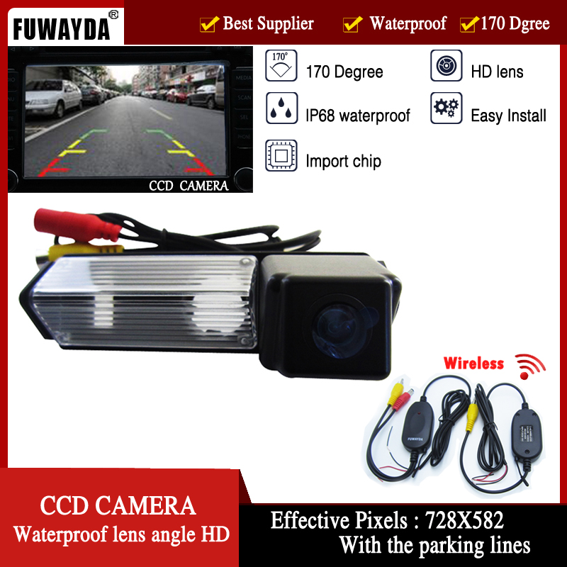 FUWAYDA parking 2.4 Ghz Transmitter COLOR CCD wireless rear view camera parking liens for Mitsubishi Challenger Grandis image
