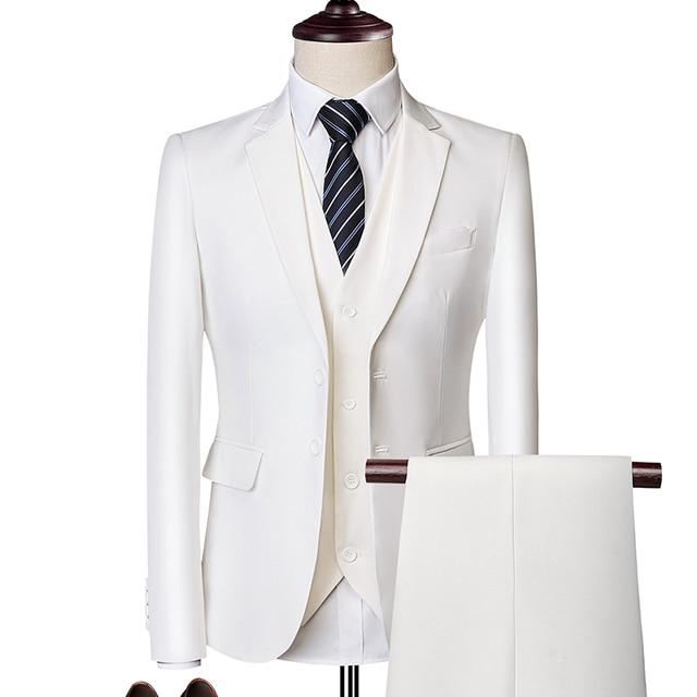 بدلة بدلة الذكور 2019 الربيع والخريف الراقية الأعمال الحلل ثلاث قطع / سليم حجم كبير متعدد الألوان بوتيك دعوى 1