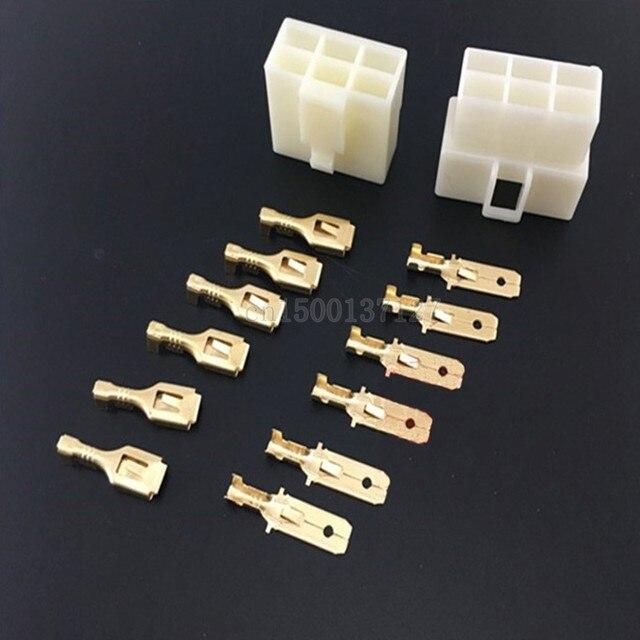 Online-Shop 6,3mm 1/2/3/4/6/8 pin Automotive 6,3 Elektrischen draht ...