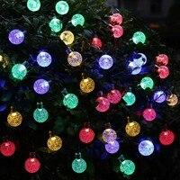 HENYNET Мода Рождество солнечные Globe огни, 30 светодиодный (19,7 футов) шар Фея свет шнура Водонепроницаемый