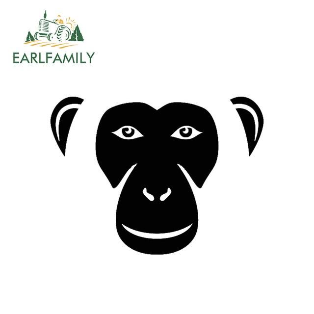 EARLFAMILY 15 cm x 12 cm יפה גורילות קוף השימפנזים פנים מקרוב רכב מדבקת משאית חלון דלת מחשב נייד בעלי החיים ויניל מדבקות