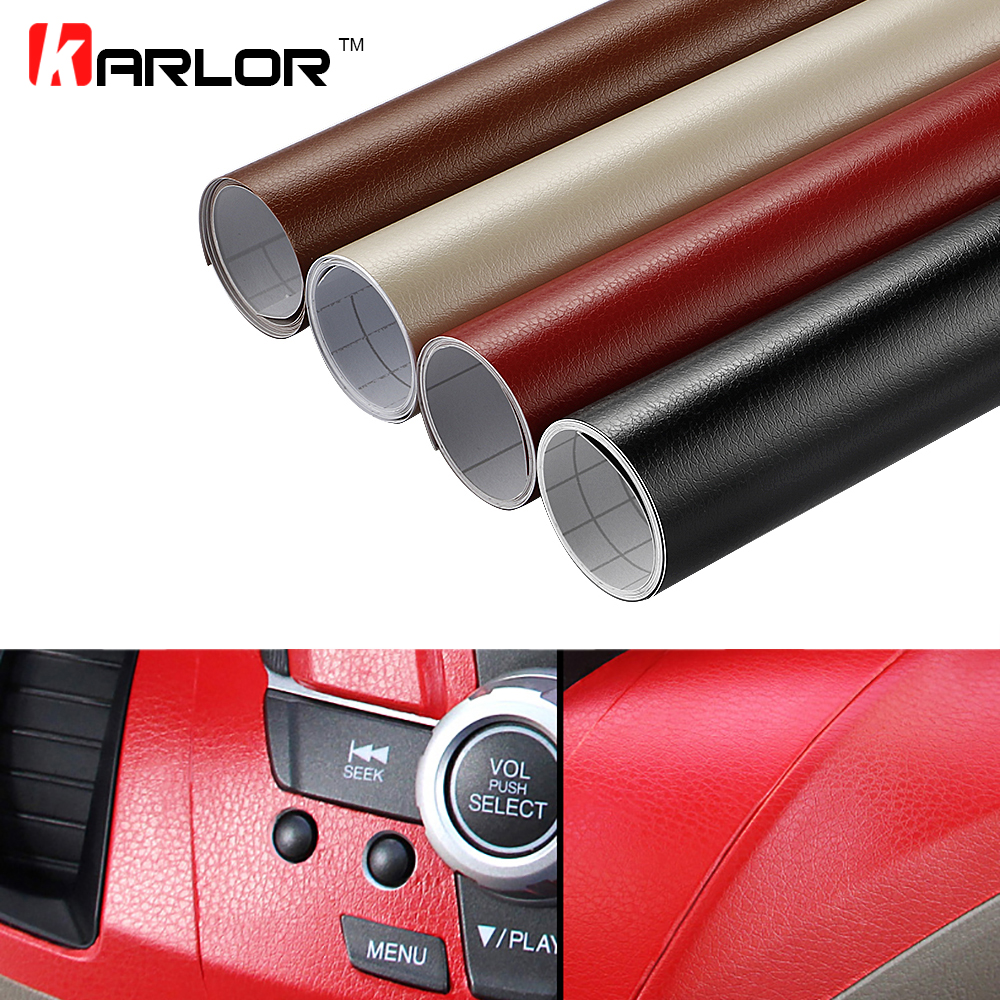 60x500cm Leather Pattern Waterproof PVC Vinyl Film Car Sticker Adhesive Auto Body Interior Decoration Decal Wrap Car Accessories 50 152cm leather pattern adhesive pvc vinyl film sticker auto car internal external decoration vinyl wrap decal car styling