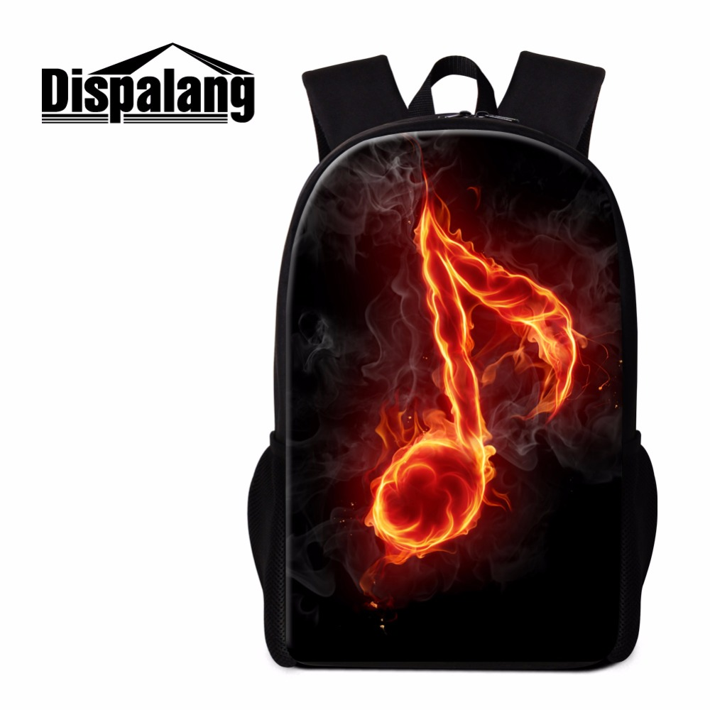 Dispalang Musical Notes Printing School Backpack for teen Girls Cool Rucksack Casual Day Pack Women College Bookbags Children