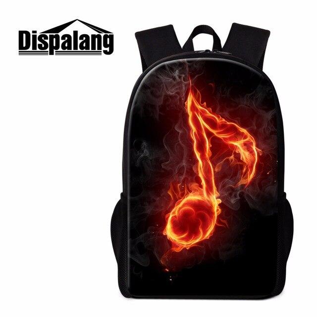 540306064d Dispalang notas musicais impressão escola mochila para meninas adolescentes  esfriar mochila ocasional pacote dia mulheres colégio