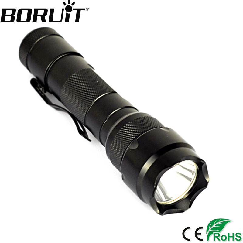 BORUiT 1200LM WF-502B XML T6 LED Tactical Flashlight Hunting Torch Camping Flash Hard Light Portable Lantern 18650 Battery